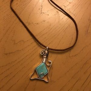 Turquoise and Silver Handmade Necklace